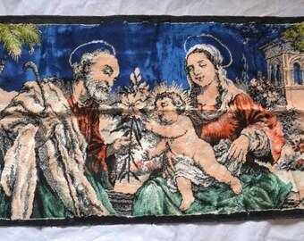 Vintage 60'S Italian Religious Tapestry