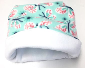 Fleece Butterfly Reversible Snuggle Sack for Hedgehogs, Ferrets, Rabbits, Guinea pigs, Hamster and Small Reptiles.
