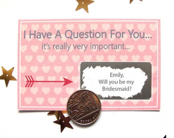 Will You Be My Bridesmaid Scratch Card