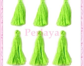 Set of 20 tassels, 3cm green REF2533