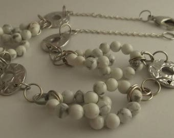 Aulite Pearl Necklace and silver links