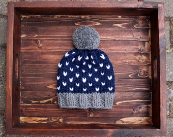 Tiny Heart Hat - Infant sized (0-2 yr)