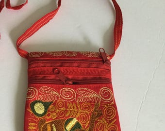 Crossbody Purse shoulder bag Purse Knitted handmade in Peru