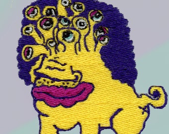 Afro beast patch