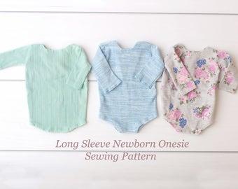 Sewing Pattern - Long Sleeve Newborn Onesie