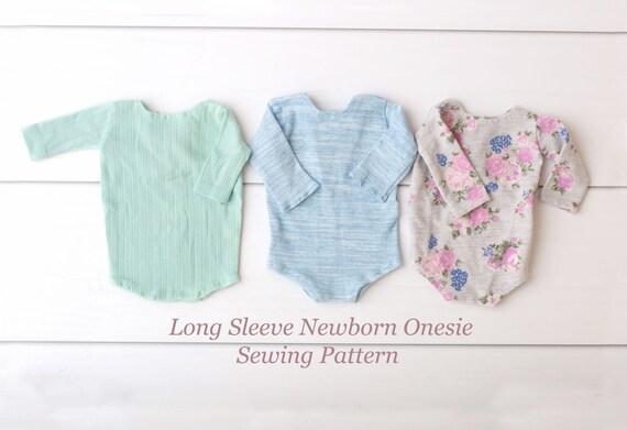 Sewing Pattern Long Sleeve Newborn Onesie