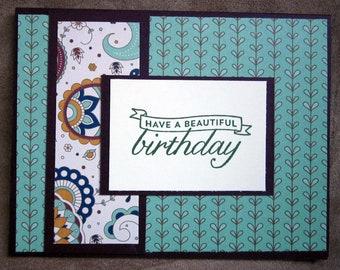 Handmade Birthday Cards; Card Set; Beautiful Birthday, Stampin Up Cards
