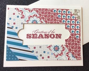 Greetings of the Season, Christmas, Holiday, Handmade, stampin up, card