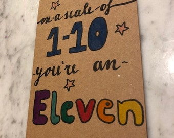Eleven based card- envelope included