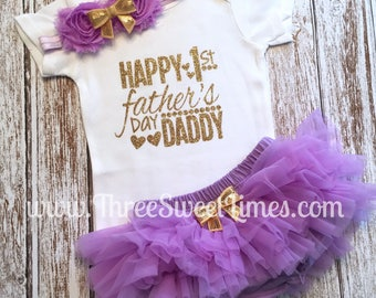 My 1st Father's Day, Fathers Day 2017, Baby Girl Father's Day Outfit, Fathers Day Girl Outfit, Father's Day Gift, Fathers Day Baby Clothes