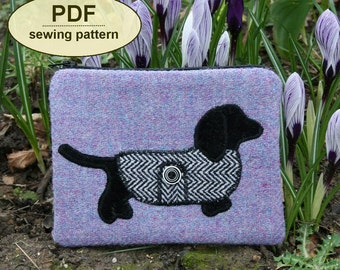 Sewing pattern to make the Pooch Purse - PDF pattern INSTANT DOWNLOAD
