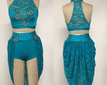 Adult XS teal dance cosume