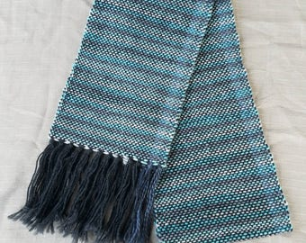 Handwoven Scarf with Fringe