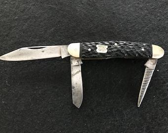 1940s Premiere K1 3 blade folding knife