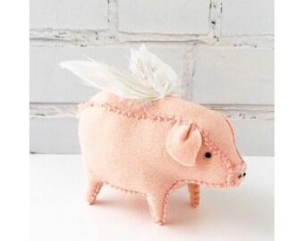 Little Pig felt Softie Sewing Pattern pdf download