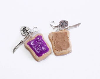 Peanut butter and jelly charms kawaii charms.