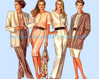 New Look 6105 Womens Pullover Shift Dress Top Pants Jacket size 8 10 12 14 16 18 Chic Professional Mix & Match Sewing Pattern Uncut FF #354