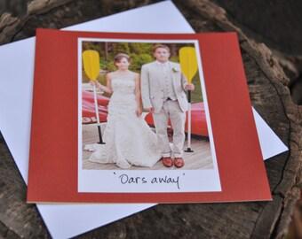 Wedding card congratulations card engagement card greeting card wedding congrats handmade card funny wedding card wedding day oars card