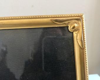 Vintage 8 x 10  Picture Frame Brass Art Deco Frame