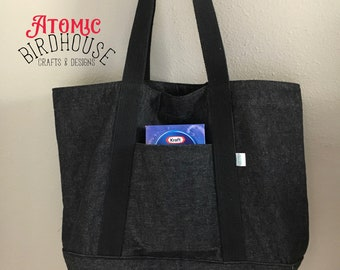 Reusable Grocery Bag - Large Market Bag - Grocery Sack - Overnight Bag - Multi-purpose Carry All - Masculine Bag - Mens Bag - READY TO SHIP