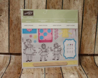 New Retired Stampin' Up! Sweet Stitches Rub Ons