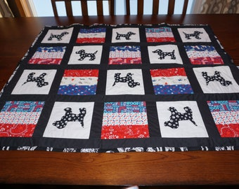 Dog Print Small Quilt