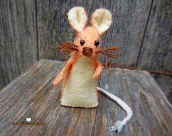 Small stuffed mouse, handmade felt mouse, felt animal gift, soft toy, felt stuffed animal