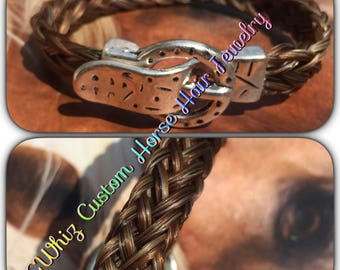 horse hair bracelet with buckle clasp