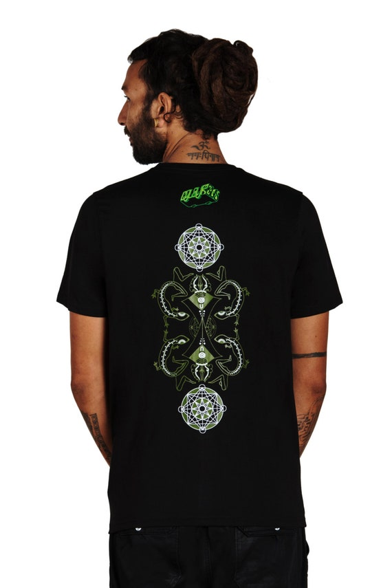 T-Shirt TERRAFORMER, Trance wear, blacklight, psy trance, party, trance clothing, festival clothing, psychedelic, trancewear, space shamanic