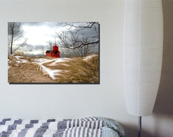 Light House in Holland Canvas Wrap