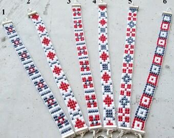ethnic Bracelet Seed Bead Bracelet Friendship Bracelet Minimal Bracelet, casual bracelet, Gift for women  Native American style boho jewelry