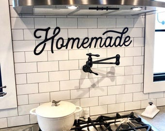 Homemade Metal Sign - Retro Homemade Sign - Metal Wall Art - Homemade Sign - Metal Words - Metal Wall Decor - Metal Signs -Farmhouse Kitchen