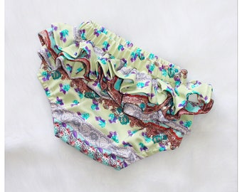 Floral & Solid Ruffle Back Baby Bloomers