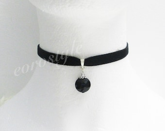 Velvet Choker, Antique Choker, Gothic Choker, Black Velvet Choker, Choker Necklace, Statement Necklace Black, Victorian Choker, Holiday Gift