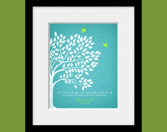 Parent's Gift, Thank You Gifts, Customized Parents Gift, Gift for Bride's Parents, Gift for Groom's Parents, Wedding Day Gifts