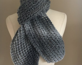 Knitted Lacy Scarf Handmade Accessories Ready To Ship