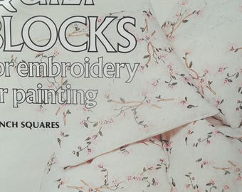 Quilt Blocks For Embroidery or Painting - Blossoms