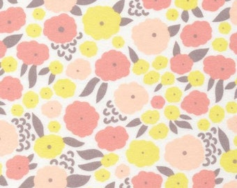 Cottonflower - Pink - Field Day Collection by Elizabeth Olwen for Cloud9 Fabrics- FLANNEL