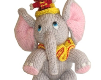 Sweet ELEPHANT with LITTLE FRIEND pdf EMAIL KNIT PATTERN
