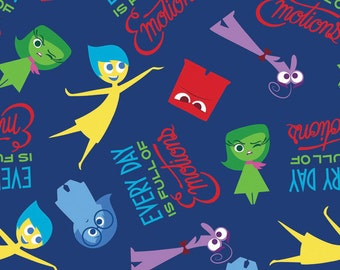 Disney Inside Out Fabric Full of Emotions From Springs Creative
