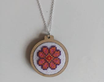 Handmade flower necklace