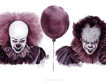 Plakmounted Poster of Pennywise from IT