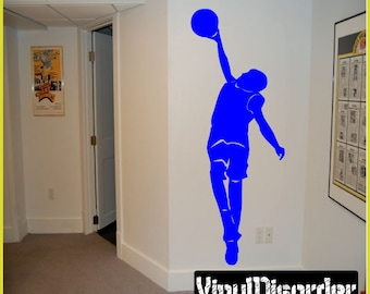Basketball Dunk Vinyl Wall Decal or Car Sticker  - BasketballMC005ET
