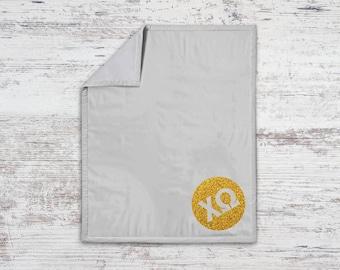 ChiO Chi Omega Monogram Sweatshirt Blanket Throw Greek Licensed Sorority Gift