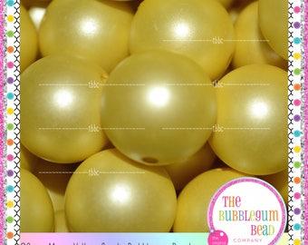20mm MATTE YELLOW ACRYLIC Bubblegum Beads, Chunky Bead, Gumball Bead, Acrylic Bead, Round Bead, Diy Jewelry Supply, The Bubblegum Bead