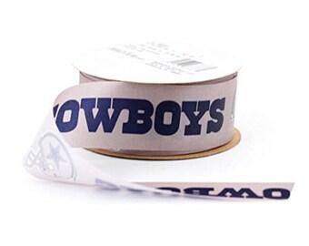 "1-5/16"" NFL Dallas Cowboys Ribbon, 12 foot spool, Licensed NFL Offray Ribbon"
