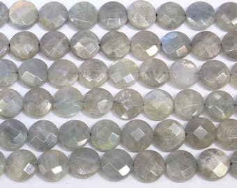 10mm Flat Round Cut Labradorite Beads Genuine Natural 5654 15''L Semiprecious Gemstone Bead Wholesale Beads Supply