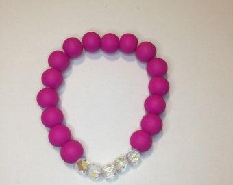 Shocking pink bracelet