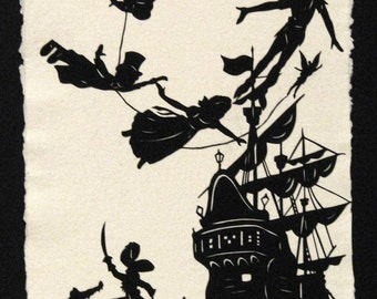 PETER PAN Papercut - Hand-Cut Silhouette