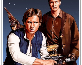 Han Solo & Malcolm Reynolds - The Scoundrel and the Captain Print